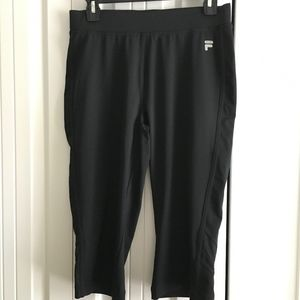 Black Fila Sport Crop Pants  Women size M